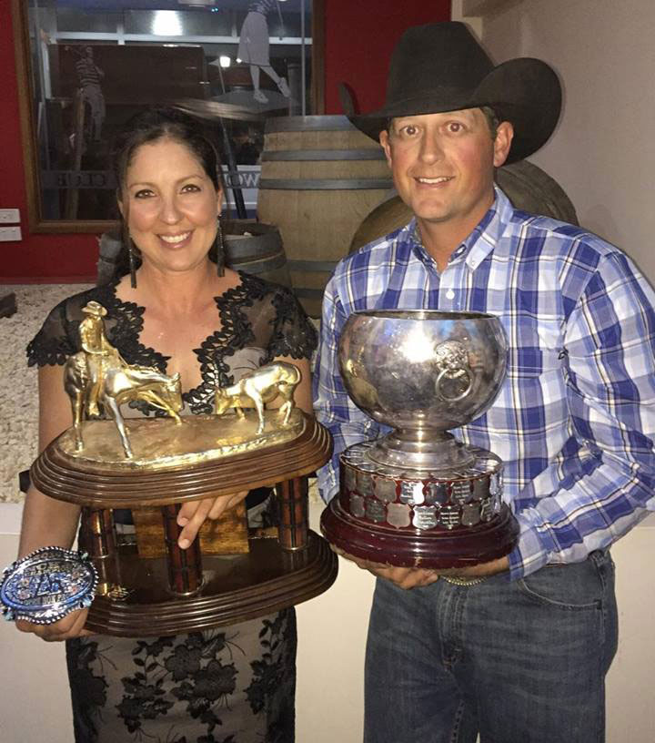 Teresa Russo & Heath Sinclair. 2016 NCHA Awards.