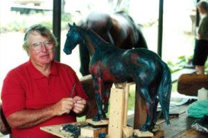 Eddie Hackman sculpting Warrenbri Romeo