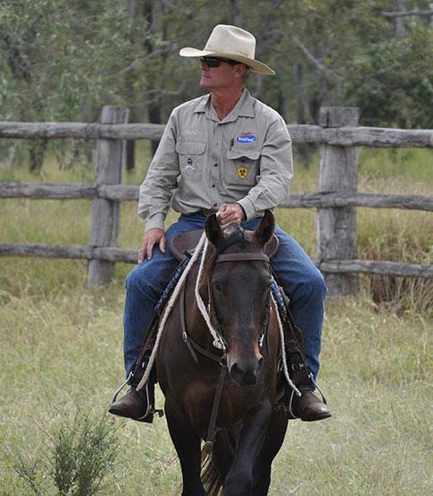 Pete riding Lu Diamond Phillips.